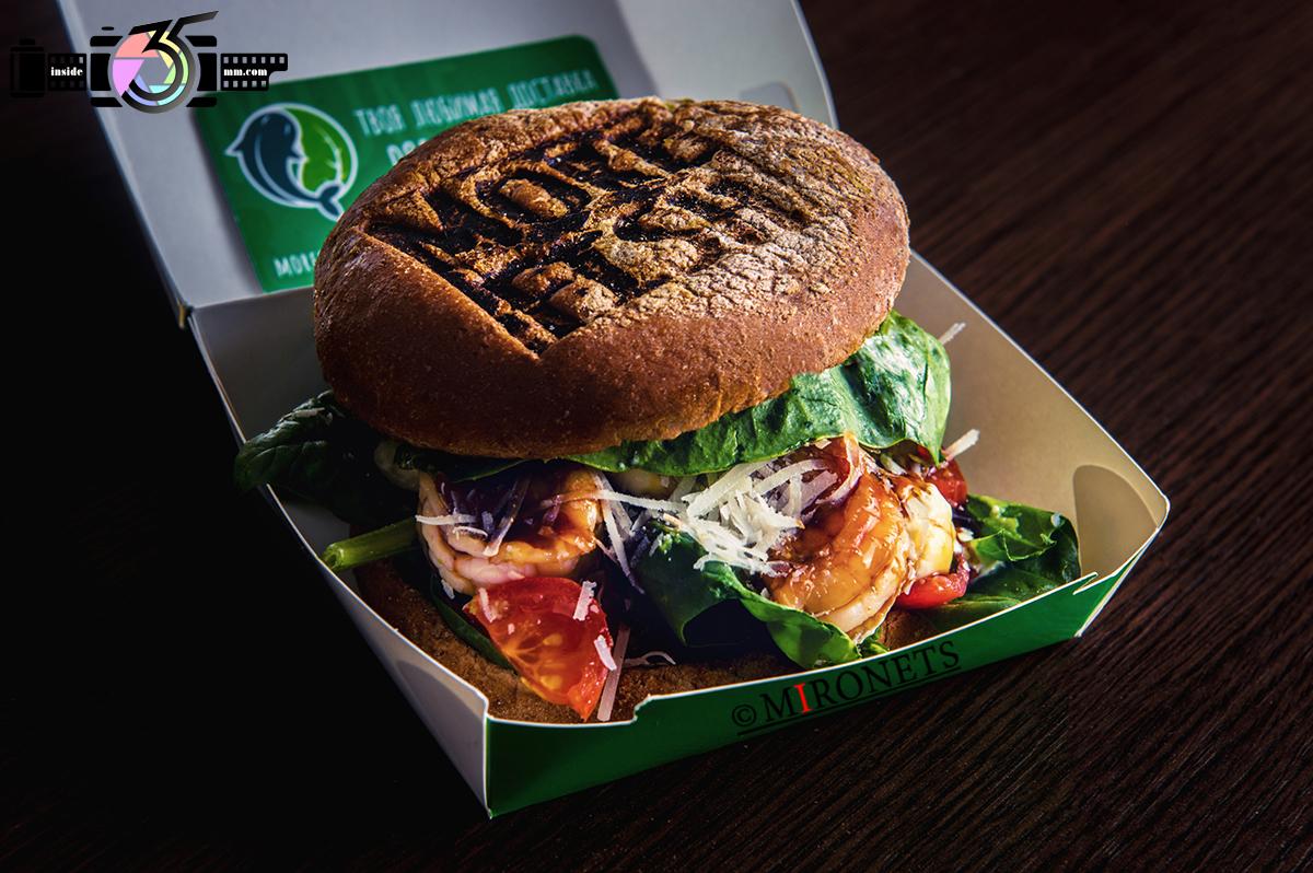 ретушь бургера пример профессиональной обработки еды для инстаграмма до и после