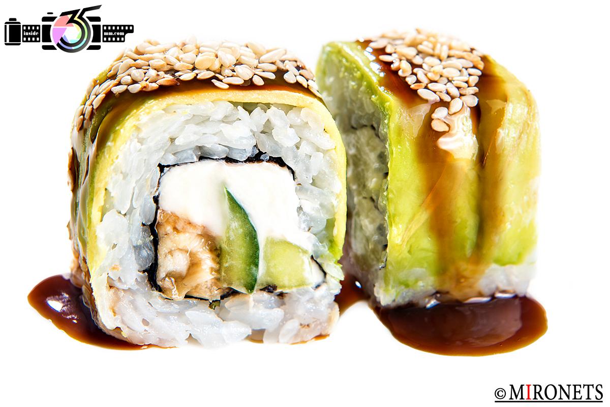 ретушь суши и роллов пример профессиональной обработки еды до и после