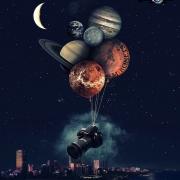 фотографии с планетами, арт фото с никоном, креативный фотошоп примеры