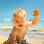 фотографии малышей на пляже